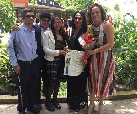 Graduación de Verónica Rivas
